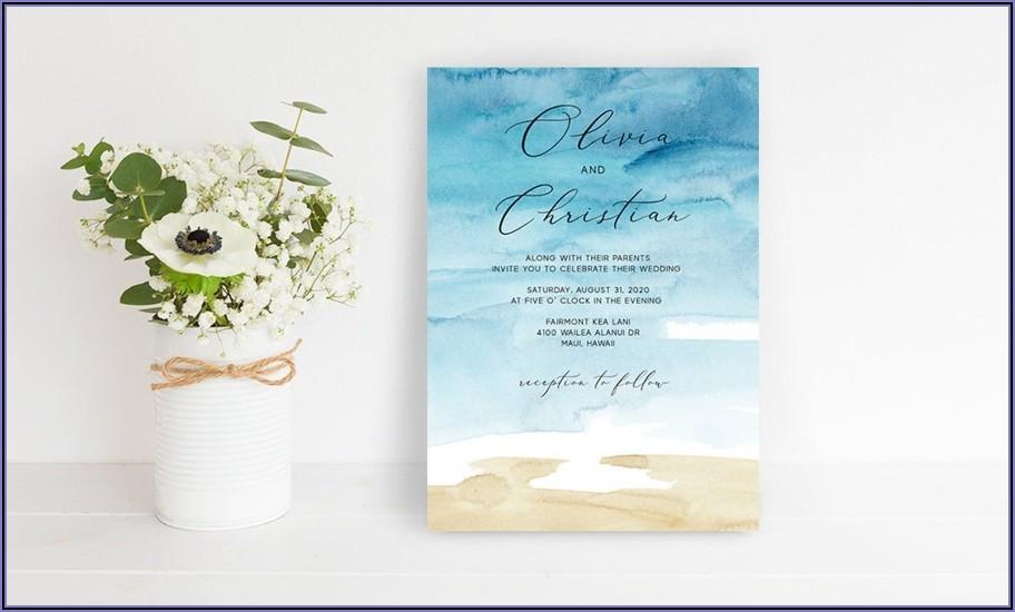 Beach Destination Wedding Invitation Wording