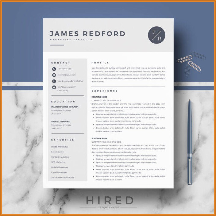 Best Resume Template Pages Mac