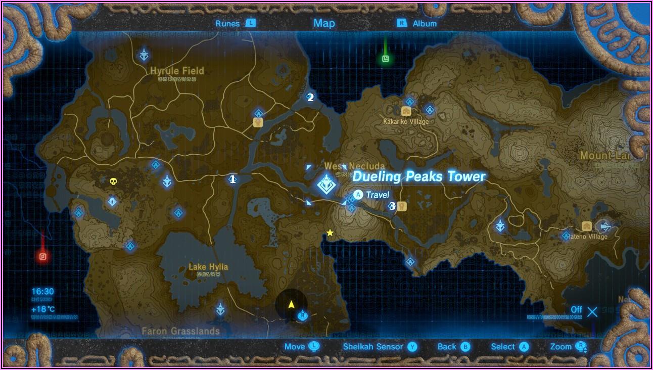 Botw Shrine Locations West Necluda