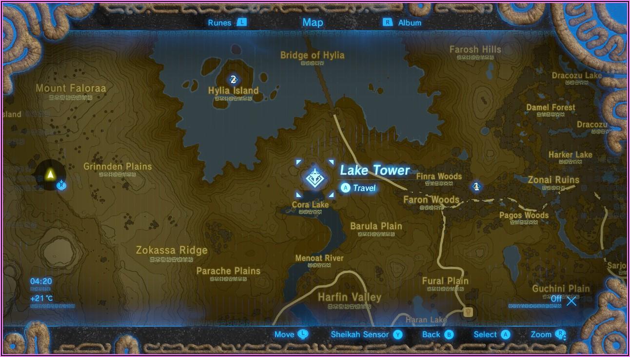 Botw Shrine Map Faron Tower