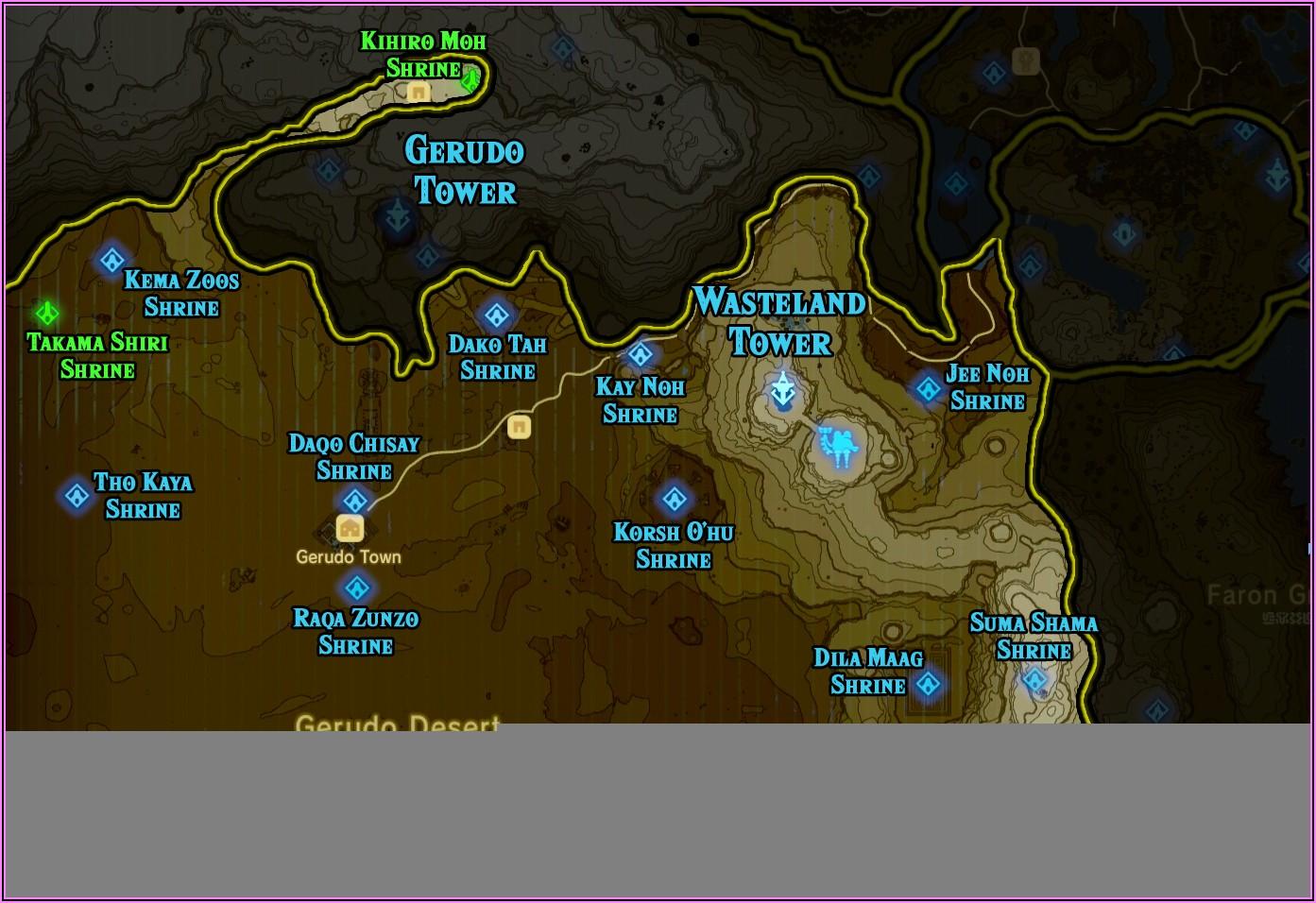 Botw Shrine Map Gerudo Desert