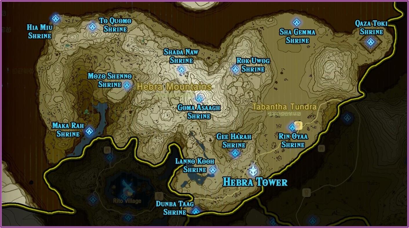 Botw Shrine Map Printable