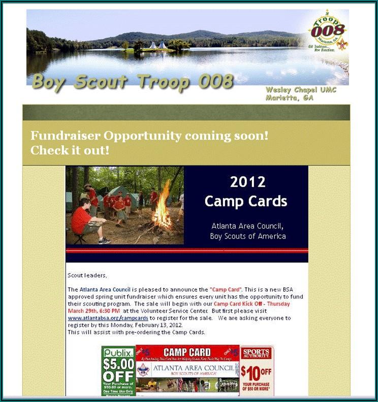 Boy Scout Newsletter Template