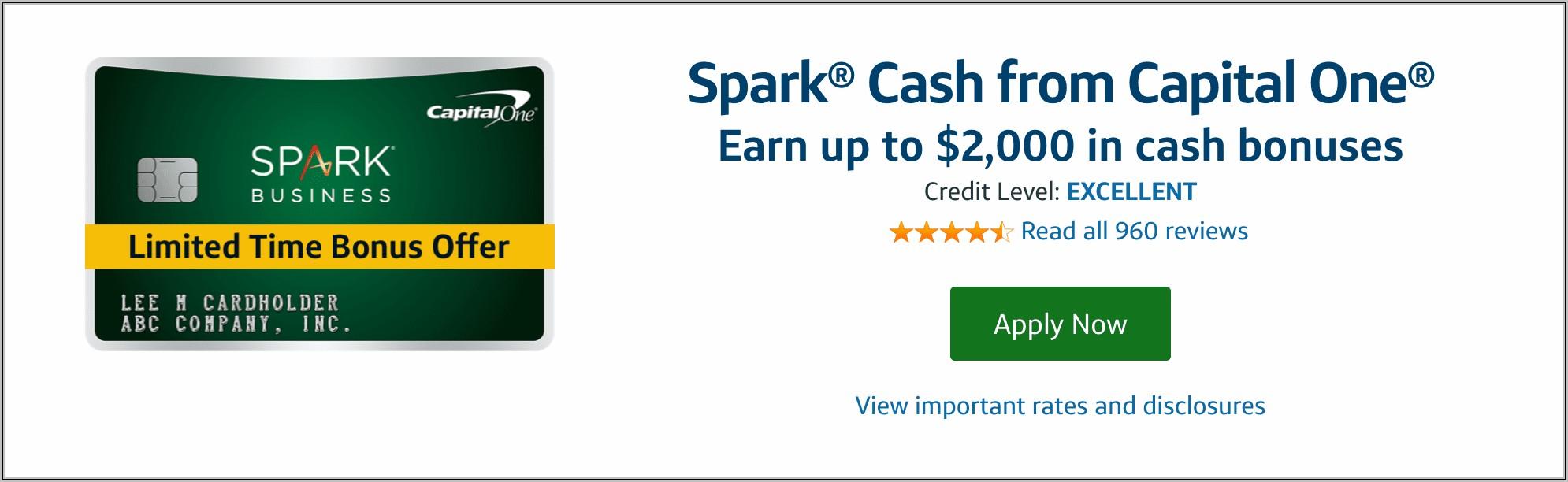 Capital One Spark Business Card Canada