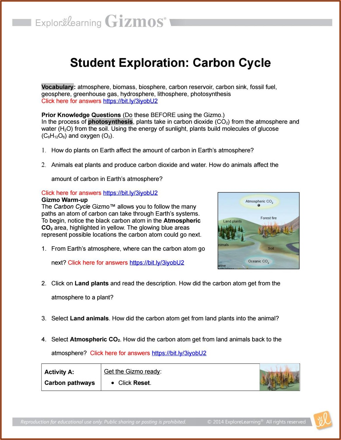 Carbon Cycle Game Worksheet Answers