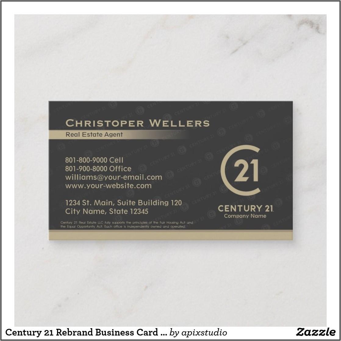 Century 21 Rebrand Business Cards