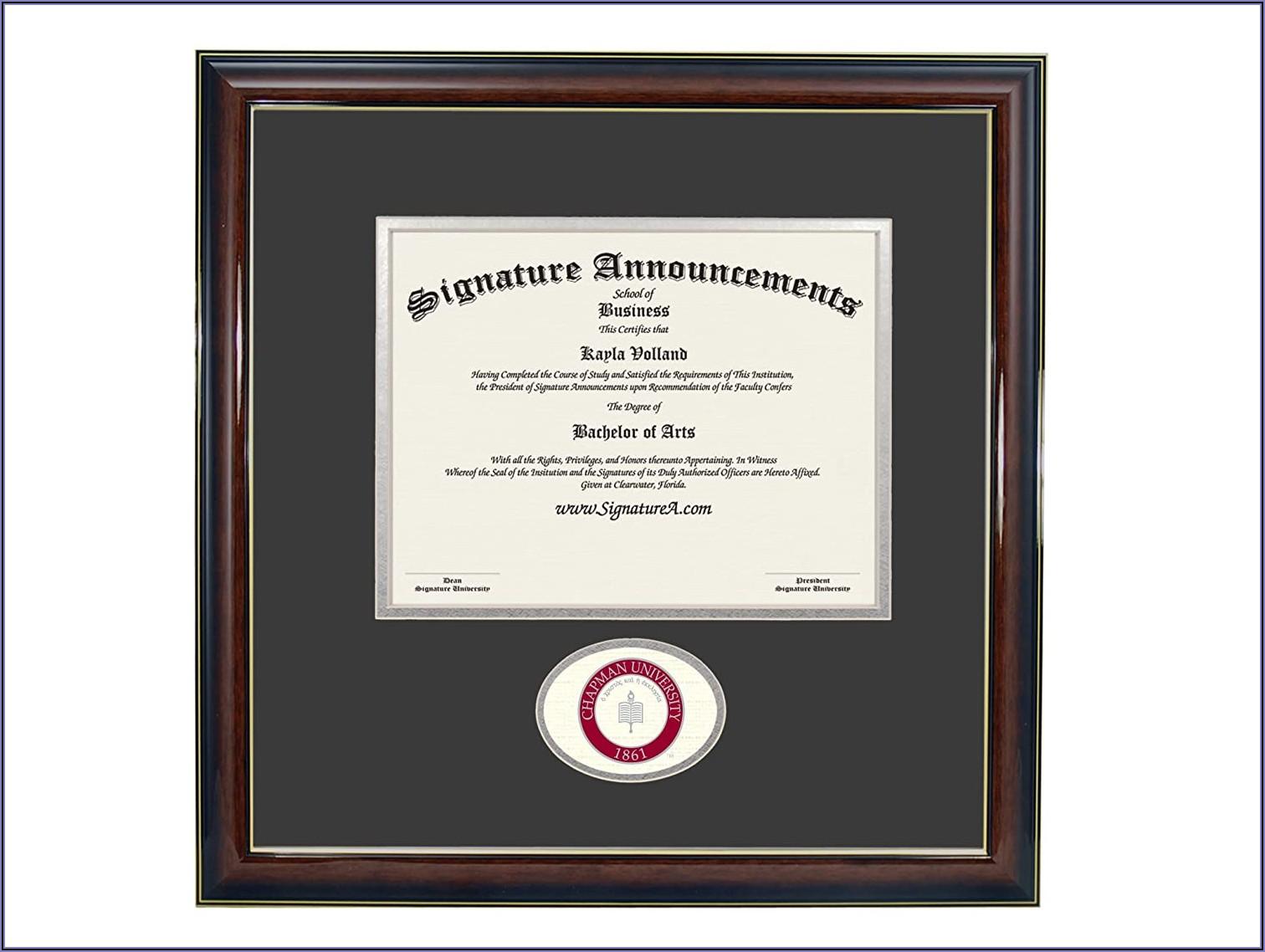 Chapman University Graduation Announcements