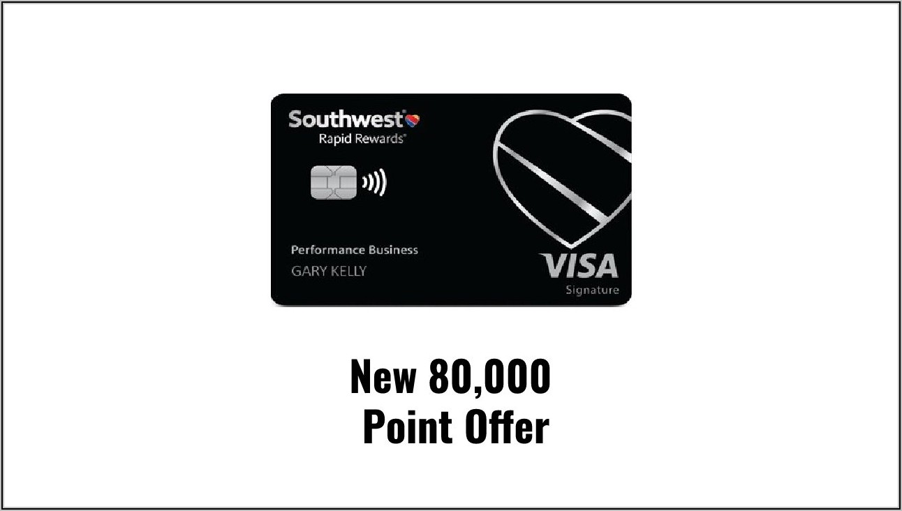 Chase Southwest Business Card 80000