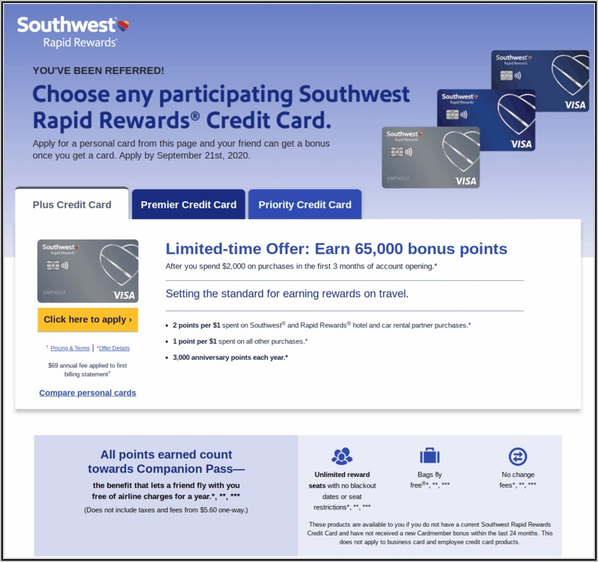 Chase Southwest Business Card Referral