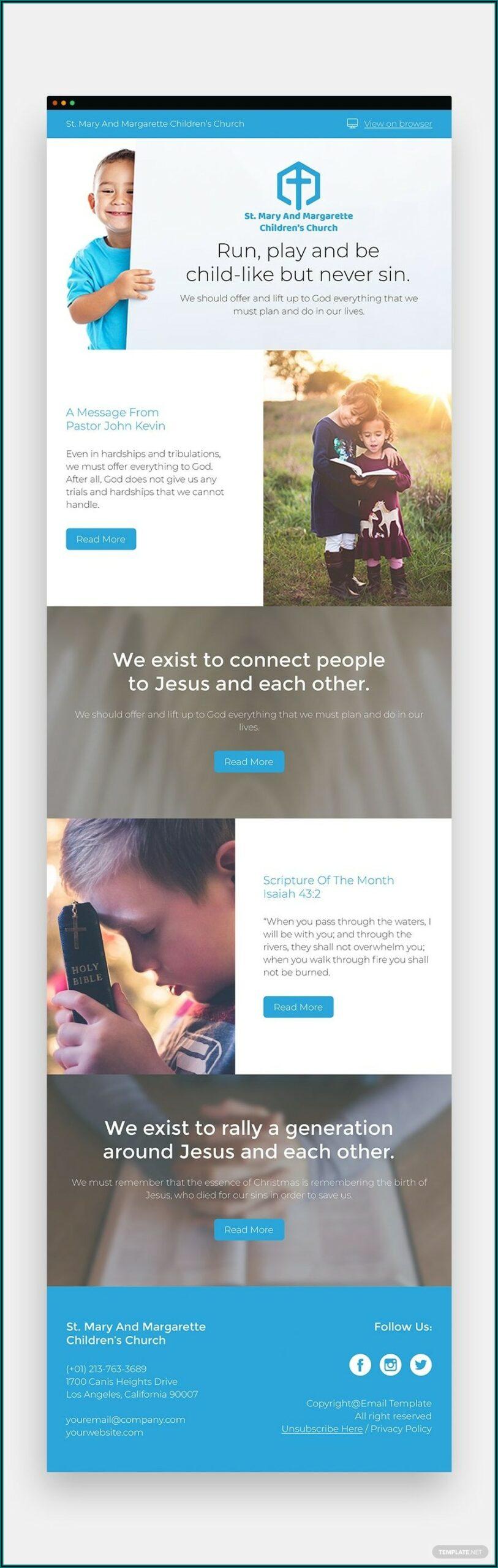 Children's Church Newsletter Template