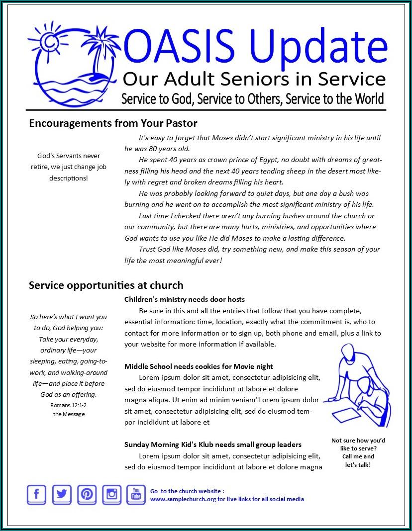 Children's Ministry Newsletter Template