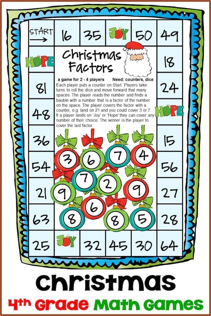 Christmas Math Games Printable