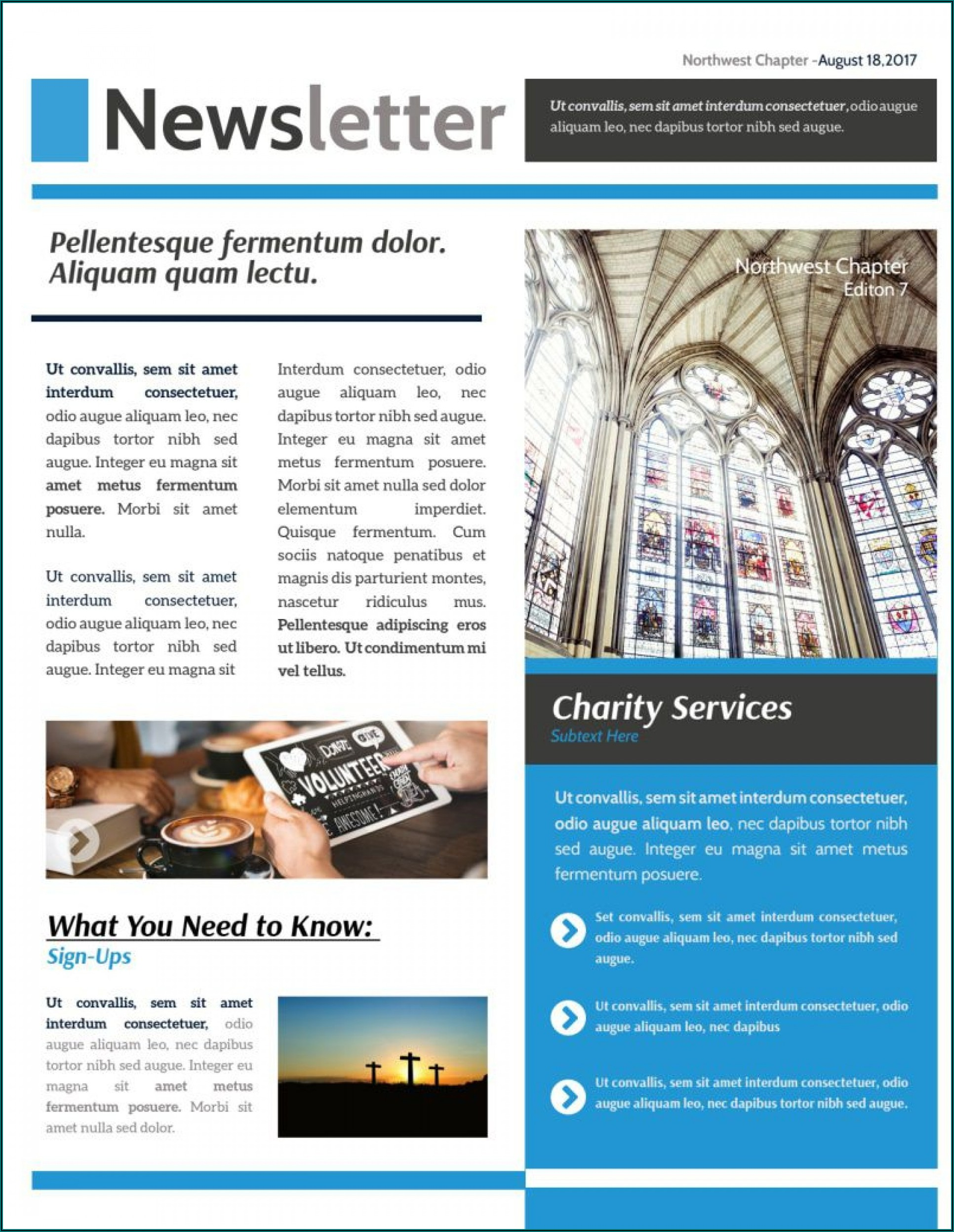 Church Newsletter Templates Publisher