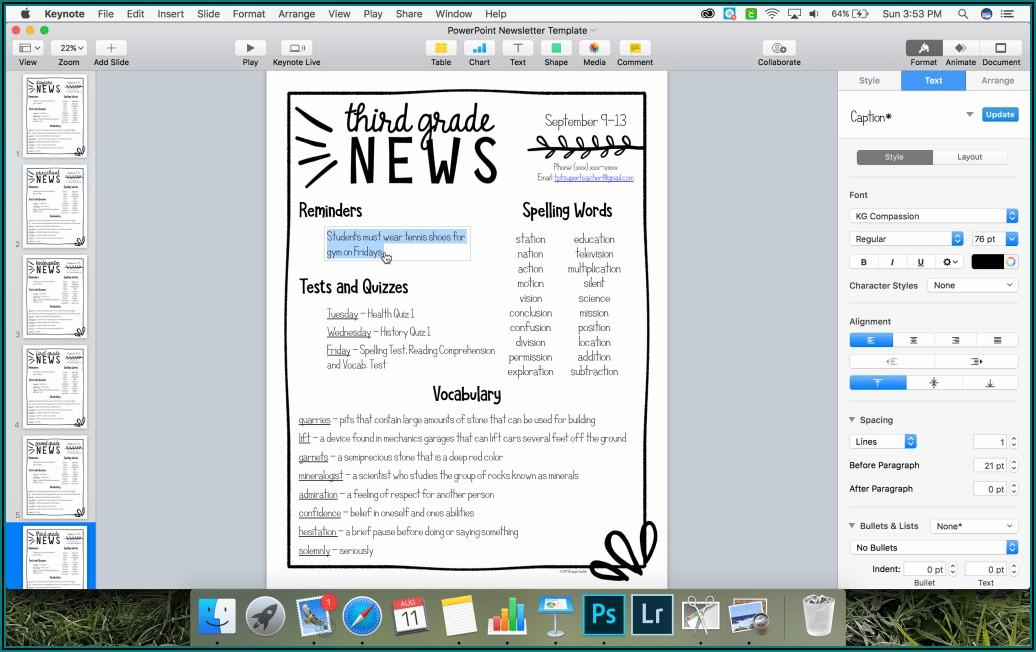 Class Newsletter Templates Word