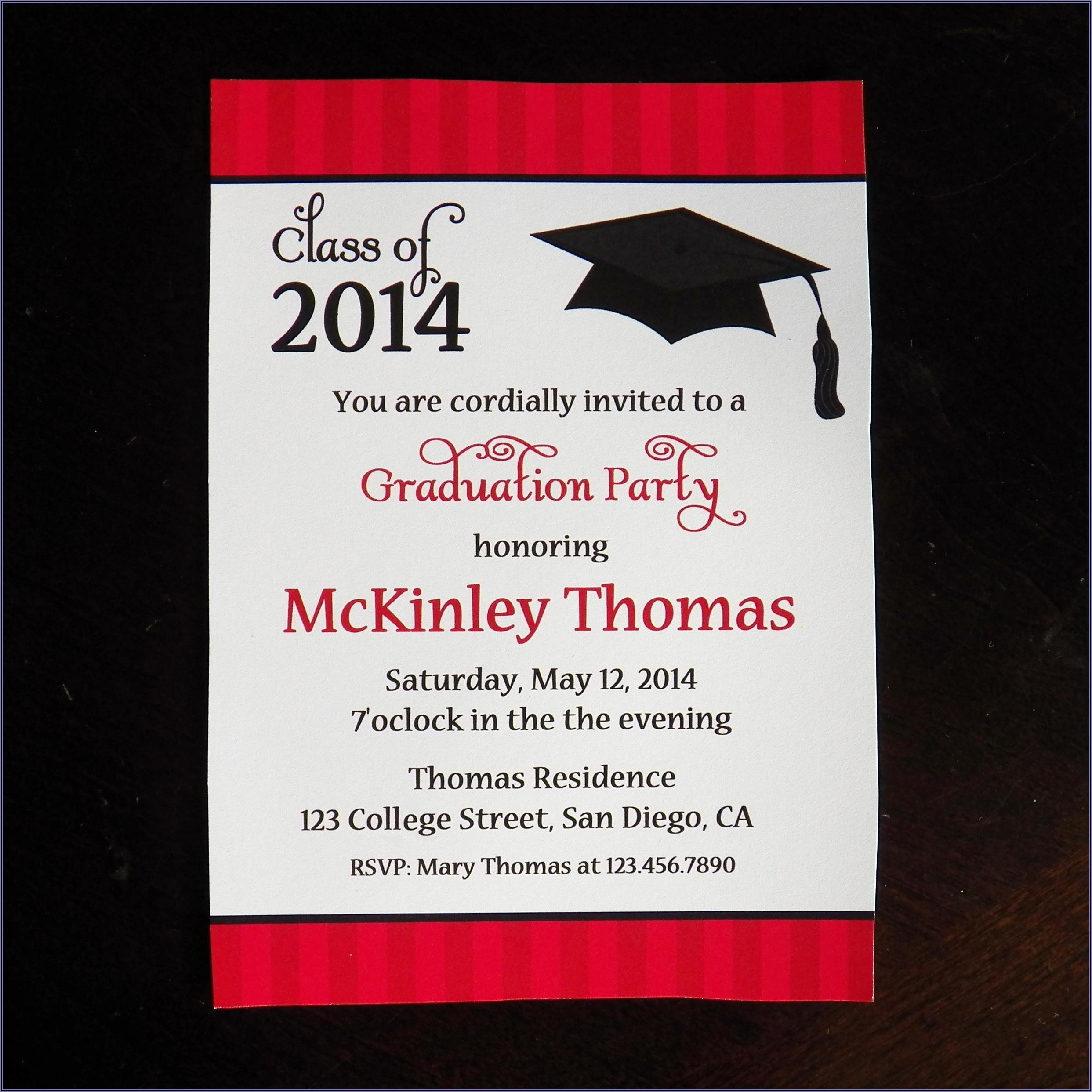College Graduation Announcement Wording Examples