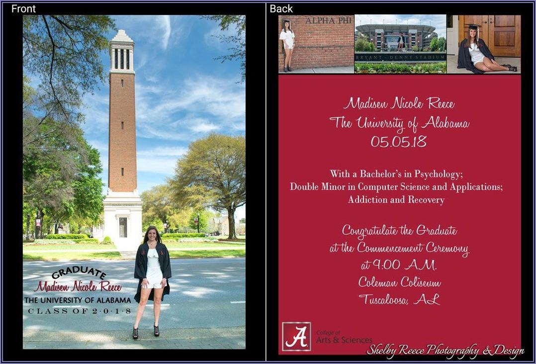 College Graduation Announcements University Of Alabama