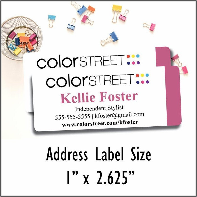Color Street Business Cards Printed