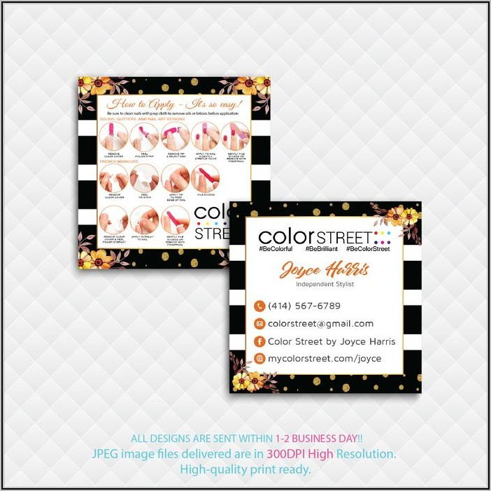 Color Street Business Cards Square