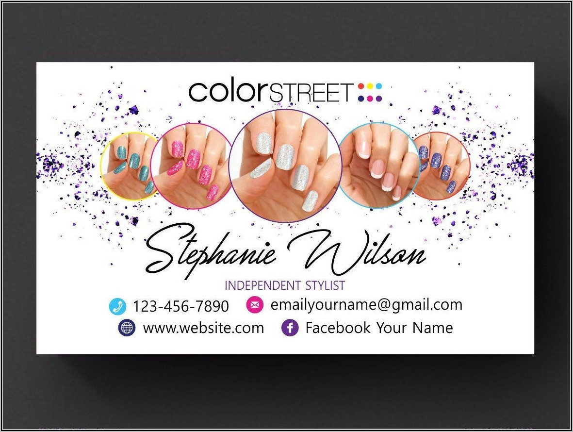 Color Street Business Cards Template Free