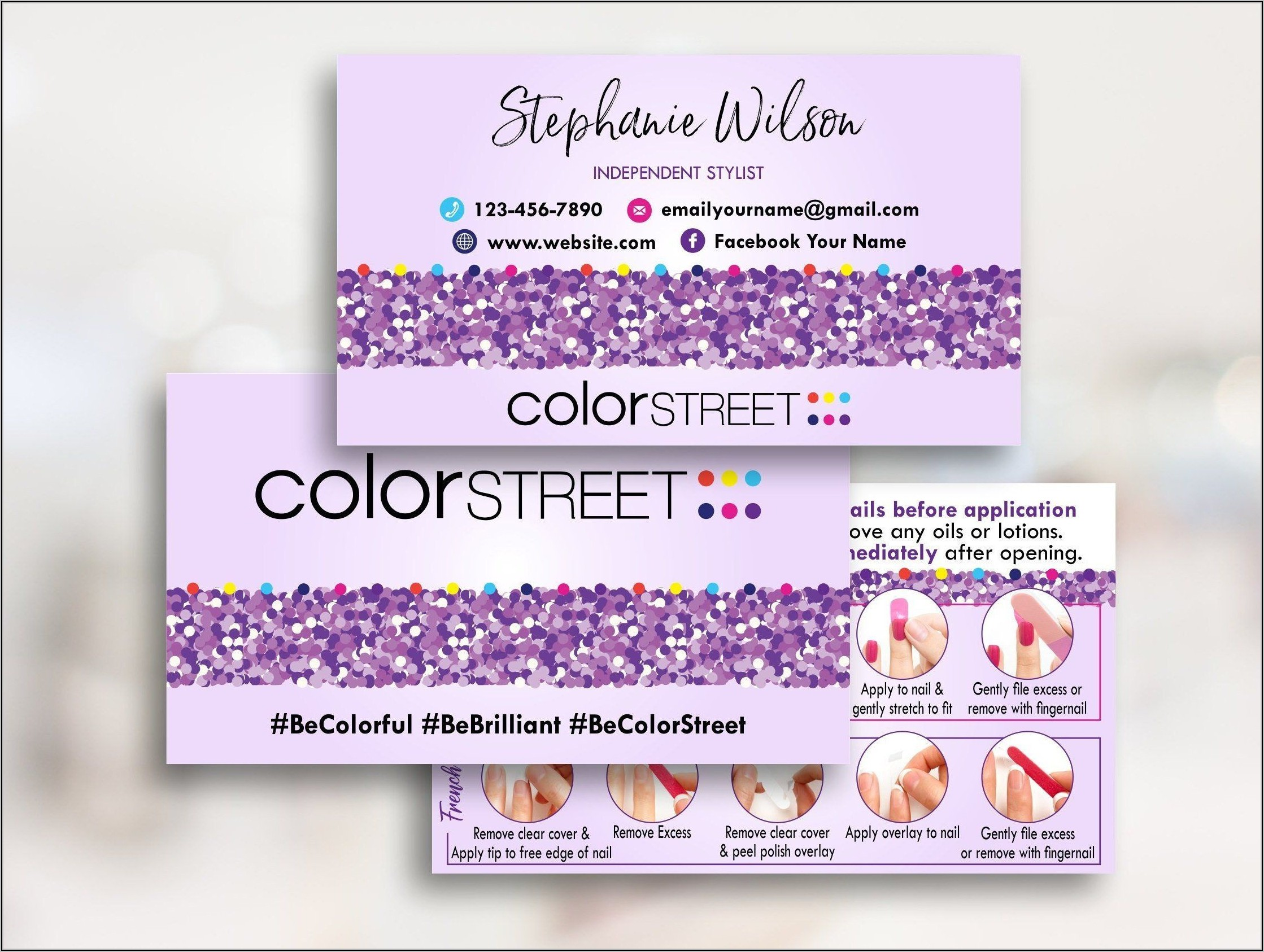 Color Street Business Cards Template