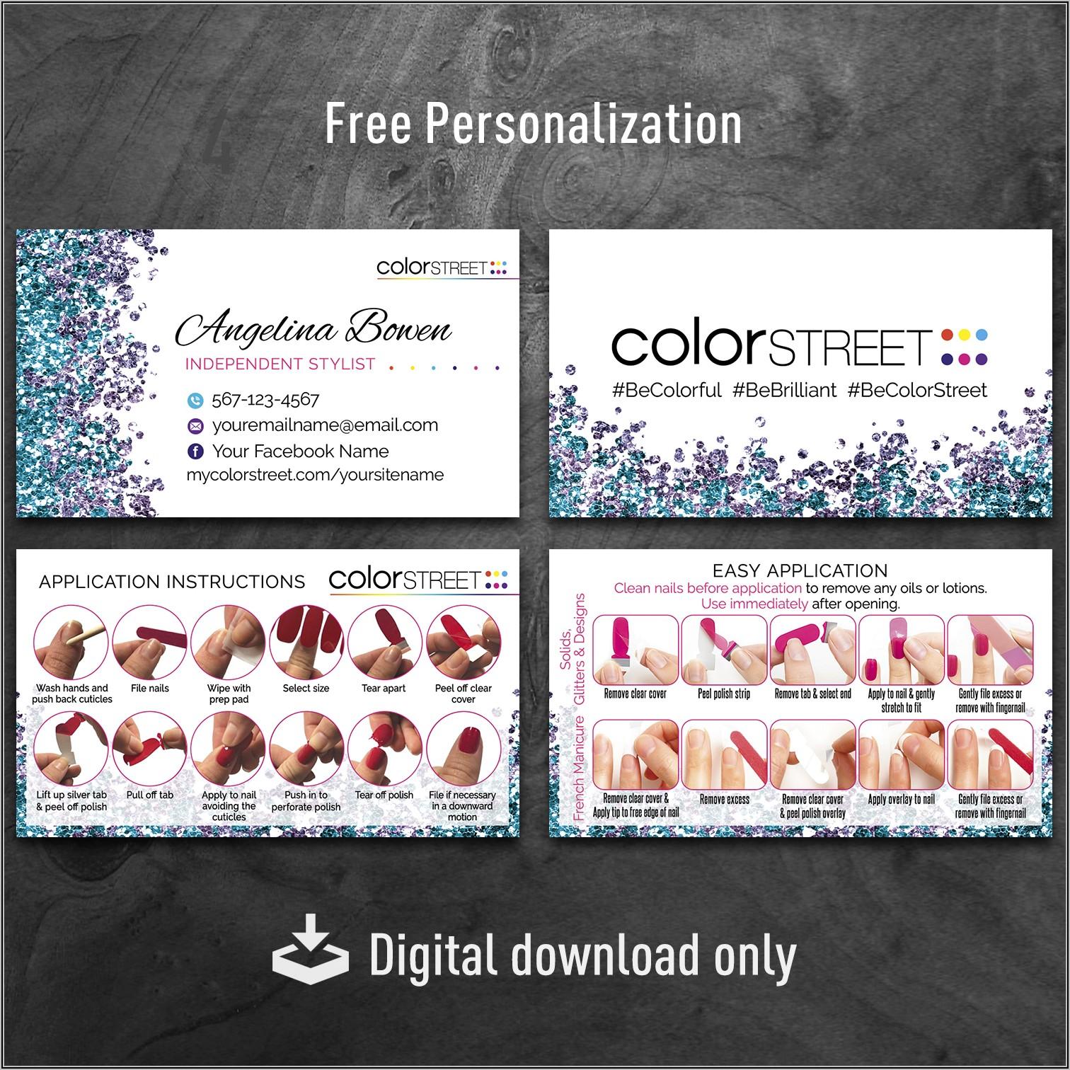 Color Street Business Cards Vistaprint