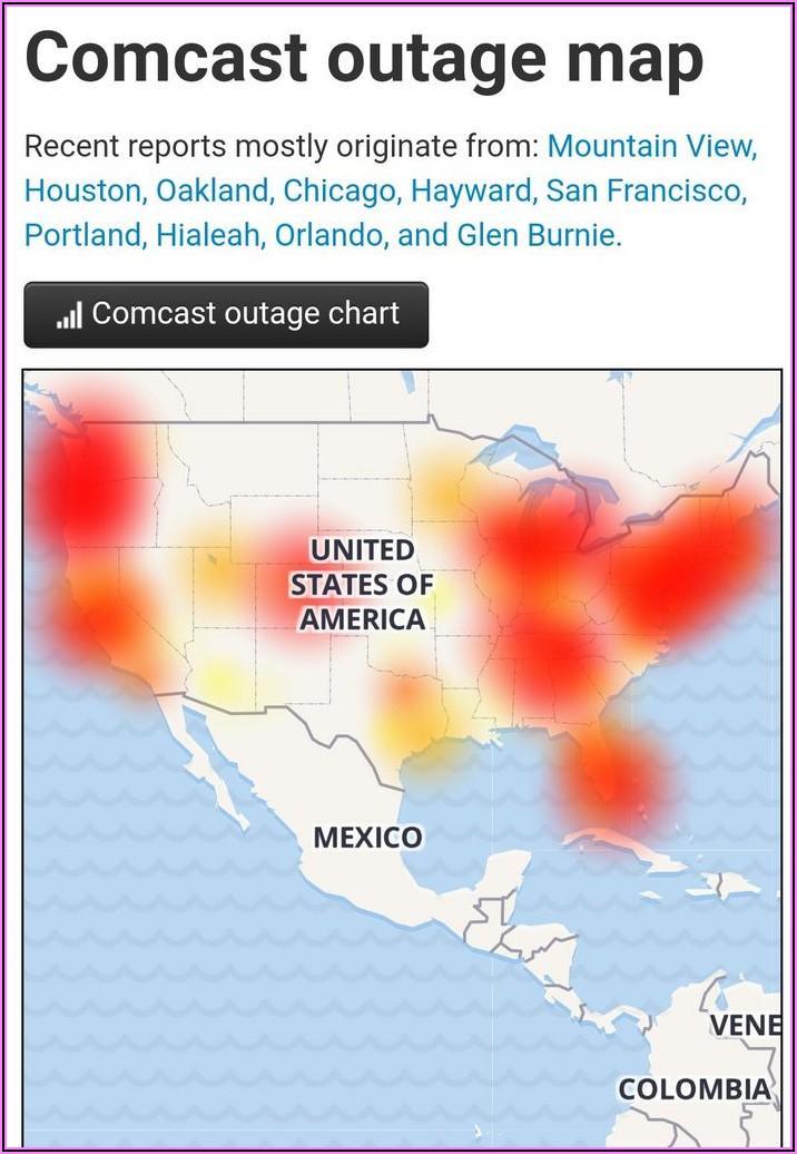 Comcast Internet Outage Map