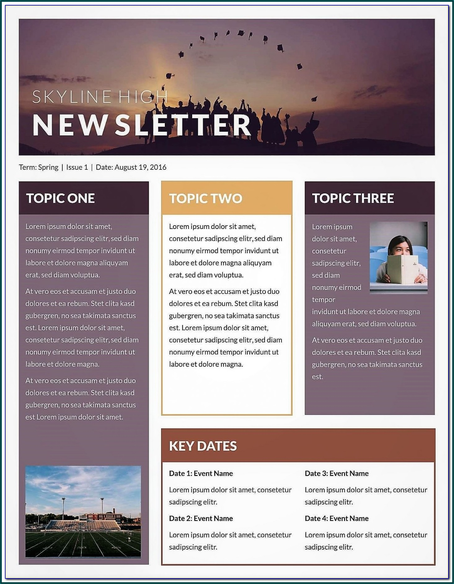 Company Newsletter Templates Publisher
