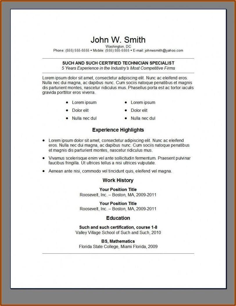 Completely Free Resume Builder Online
