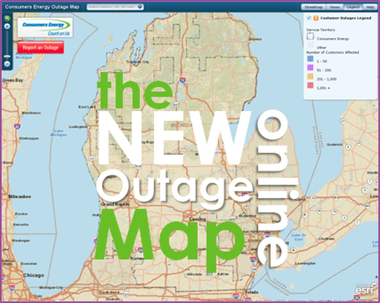 Consumers Energy Power Outage Map