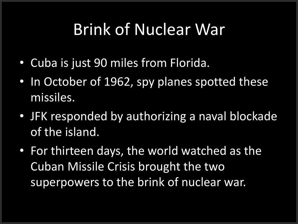 Cuban Missile Crisis Timeline Quizlet