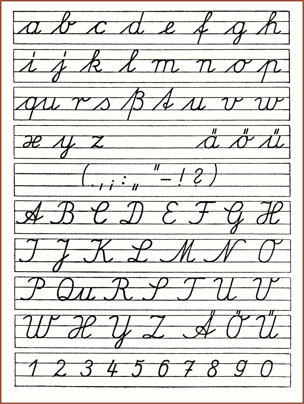 Cursive Writing Worksheet For Kindergarten