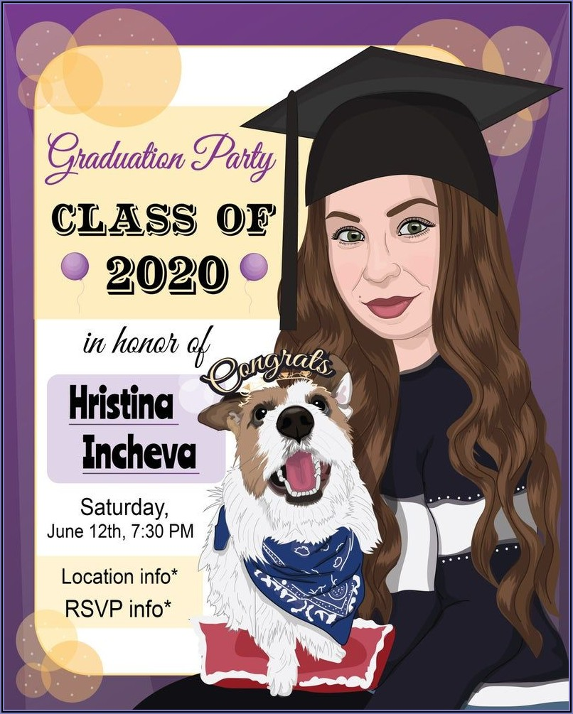 Custom Graduation Photo Invitation