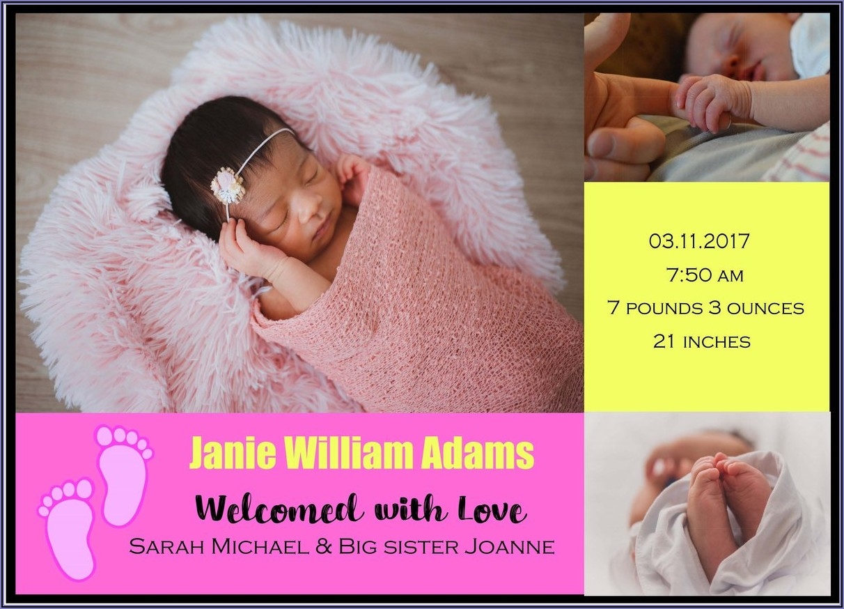 Customized Baby Announcement Cards