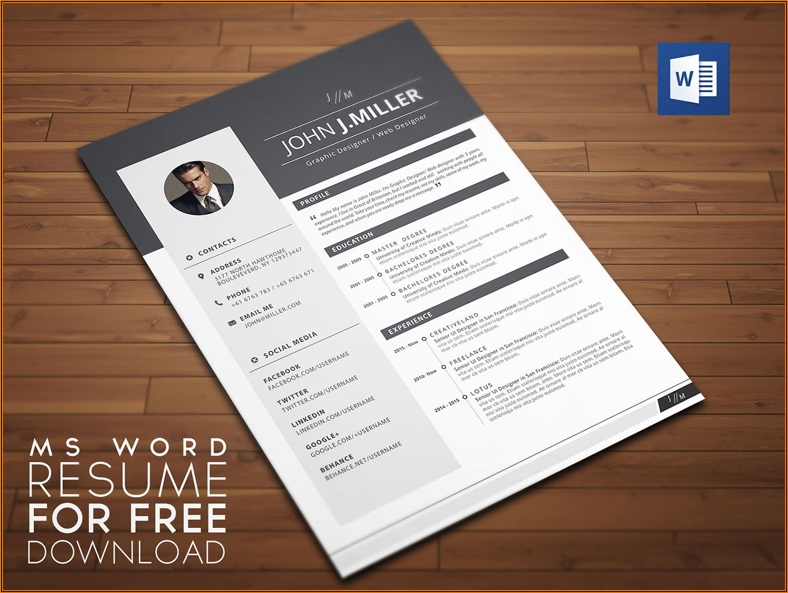 Cv Template Download Word Free