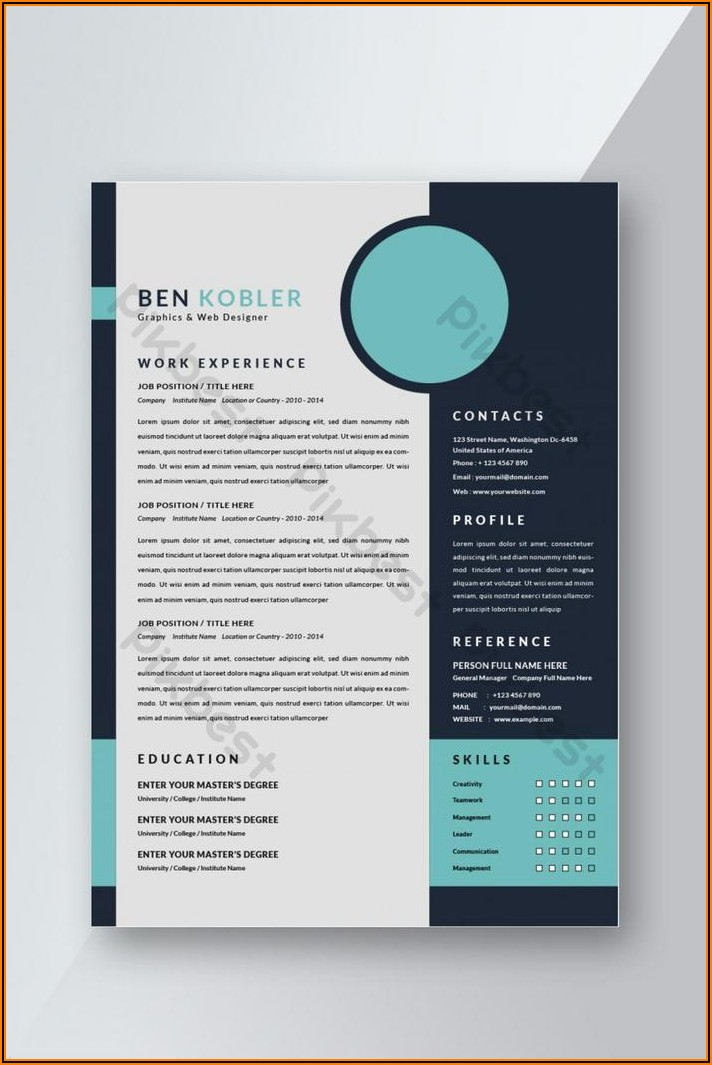 Cv Template For Word Free Download