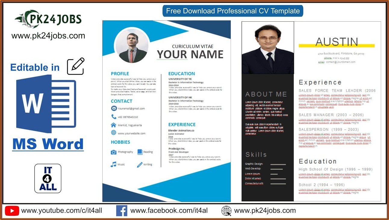 Cv Template Ms Word Download