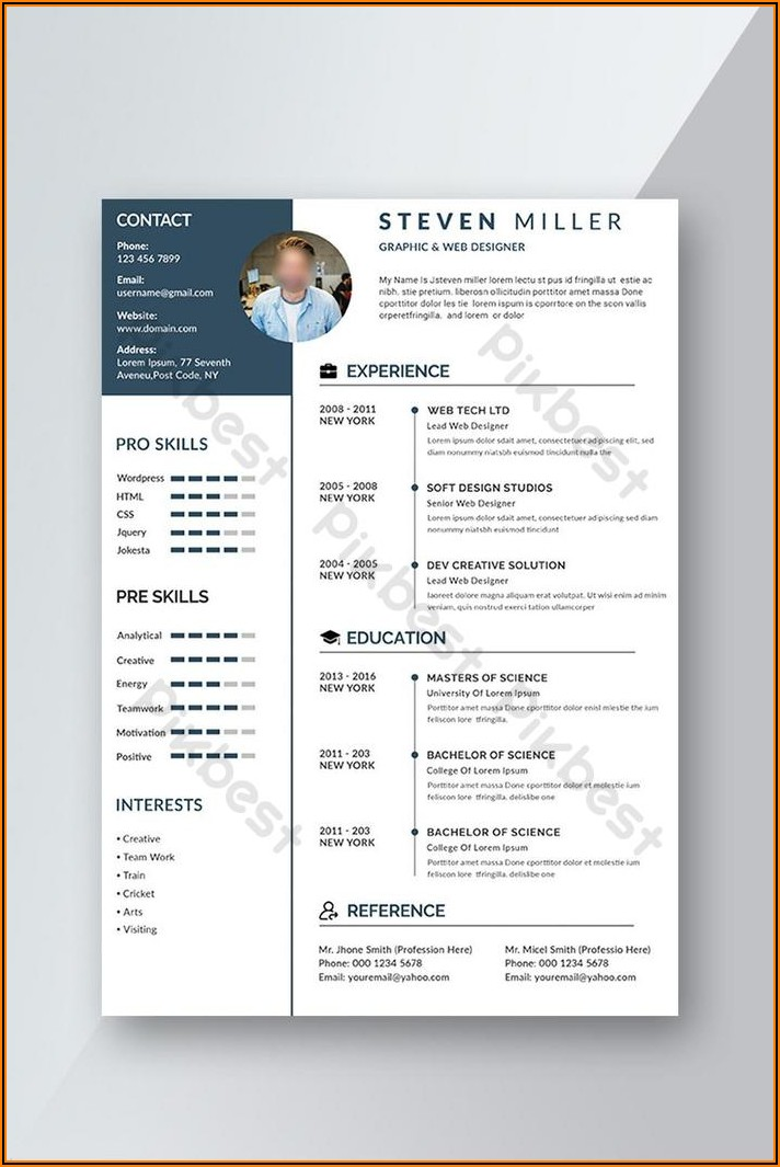 Cv Template Word 2016 Free Download