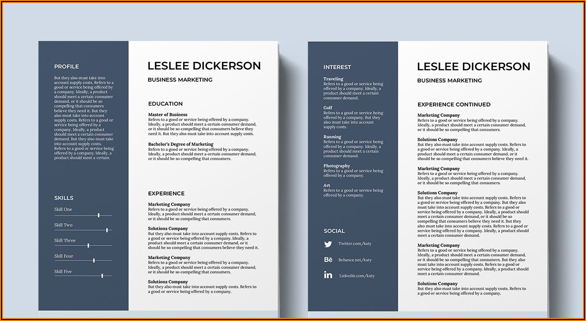 Cv Template Word Free Download 2019