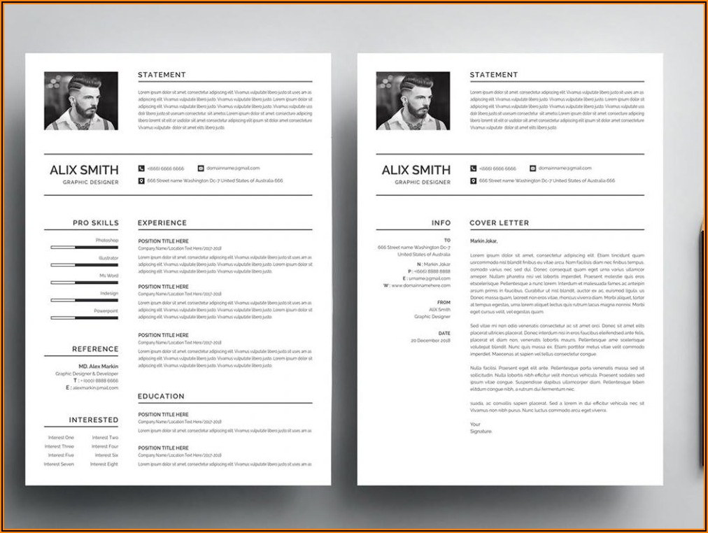 Cv Template Word Free Download 2020 With Photo