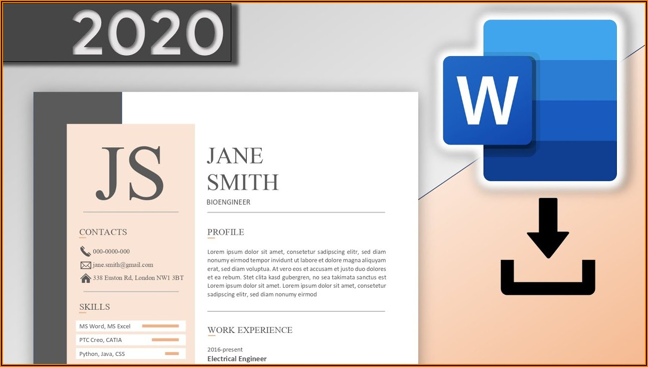 Cv Template Word Free Download 2020