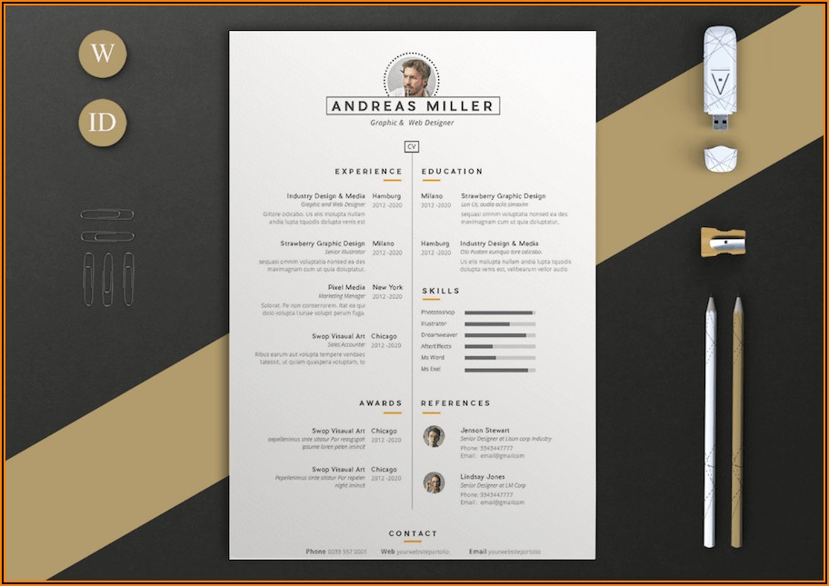 Cv Templates For Ms Word Download
