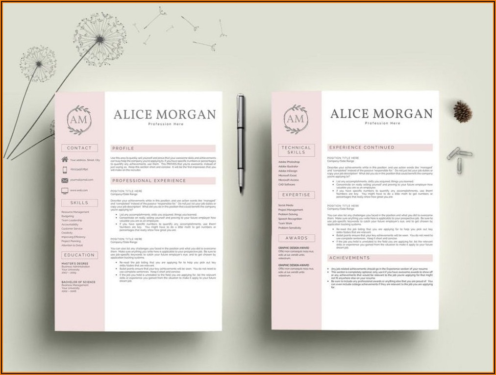 Cv Templates For Ms Word Free Download
