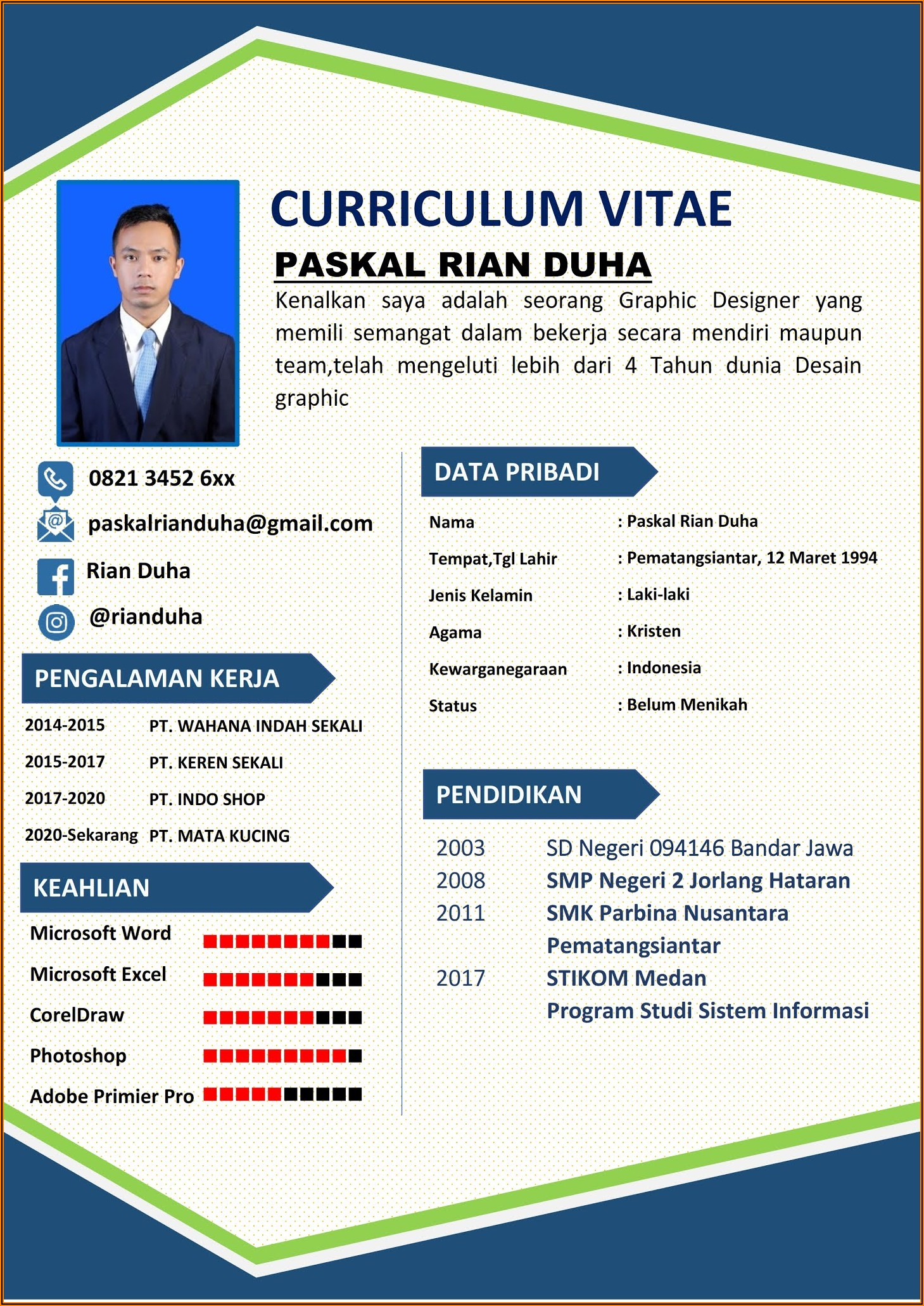 Cv Templates Free Download Word Document Indonesia
