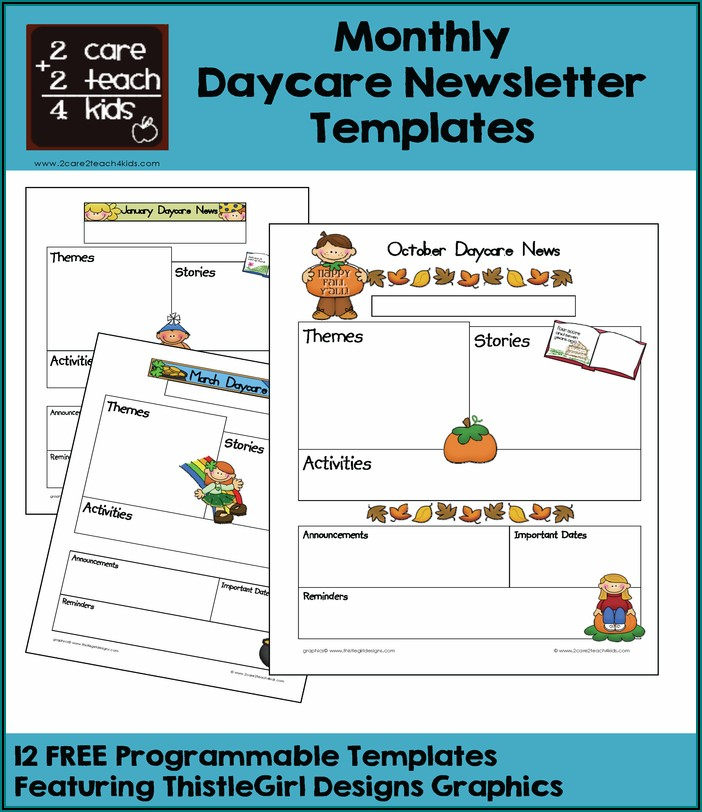 Daycare Newsletter Templates Free