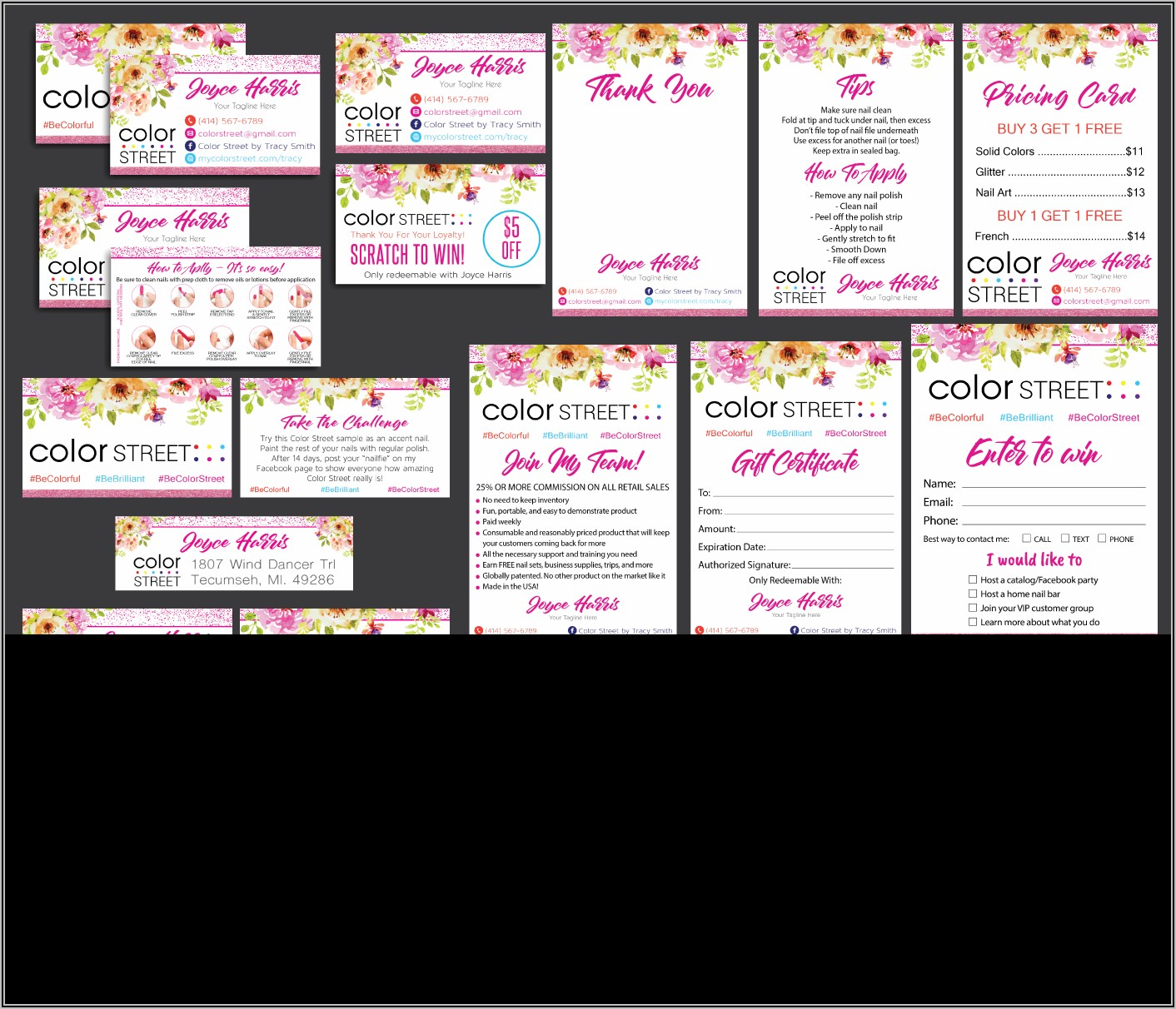 Diy Color Street Business Cards