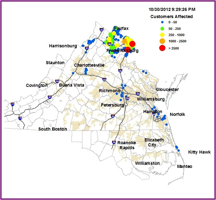 Dominion Power Outage Map Williamsburg Va