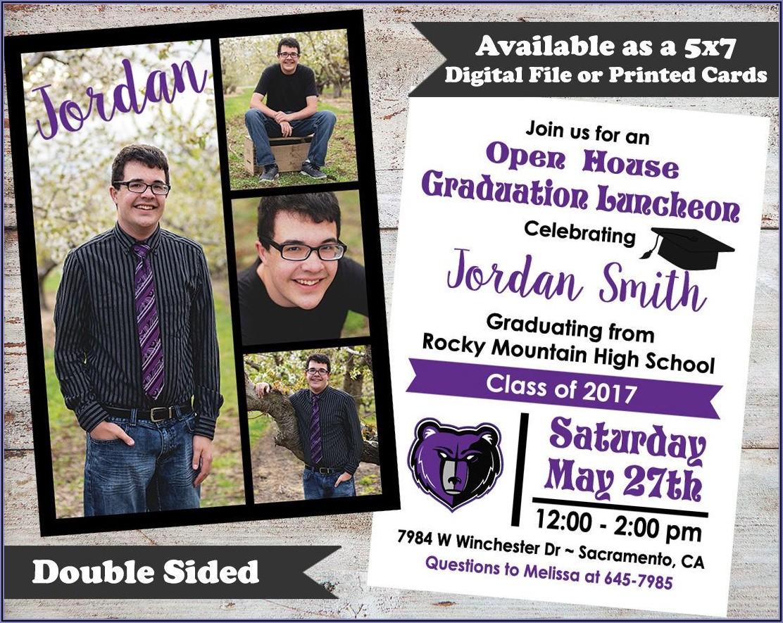 Double Sided Photo Graduation Announcements