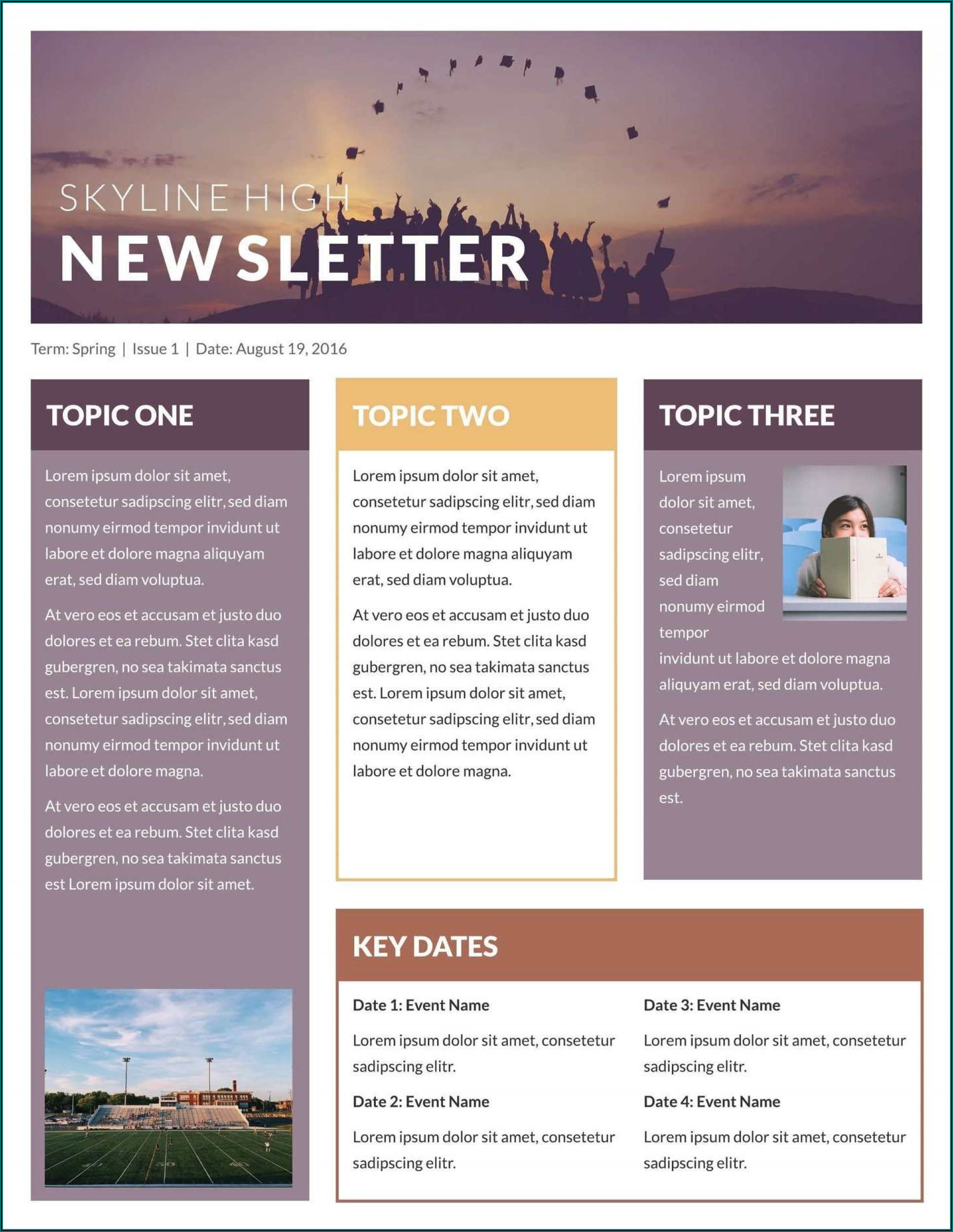 Downloadable Church Newsletter Templates