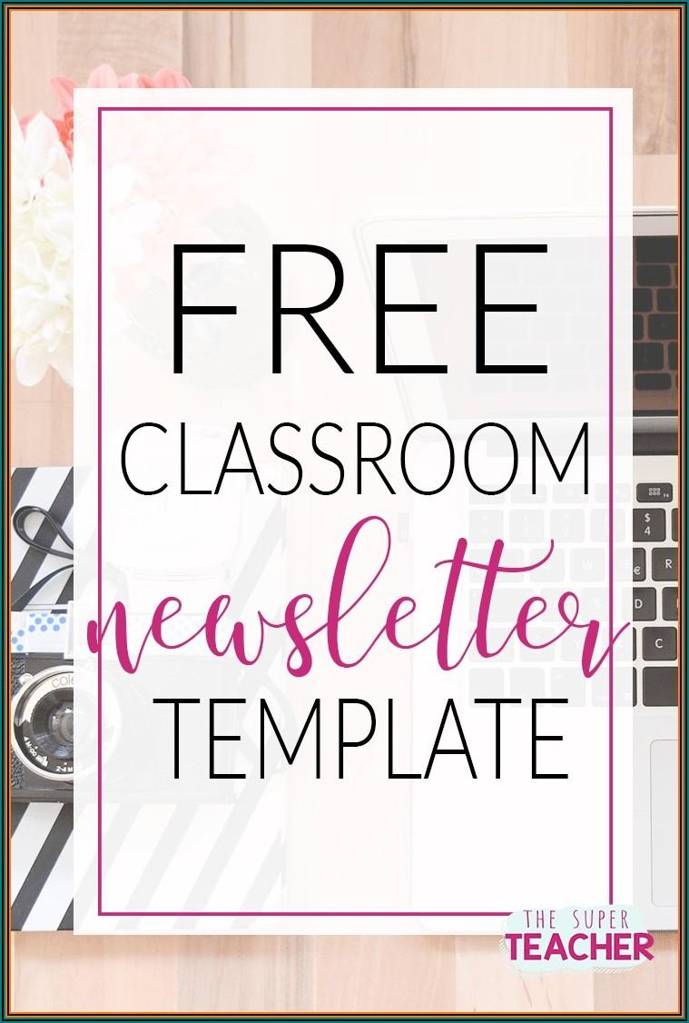 Downloadable Free Editable Newsletter Templates For Teachers