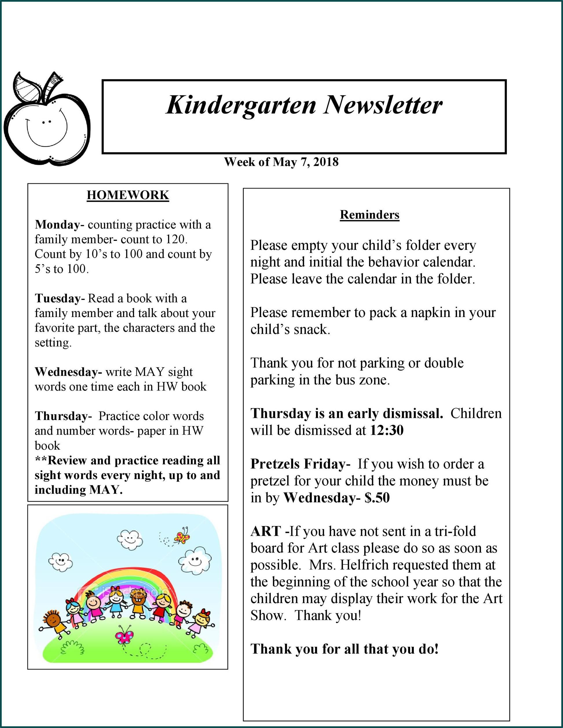 Editable Newsletter Template Word